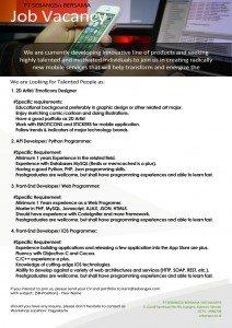 Job Vacancy poster